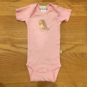 Winnie the Pooh Pink Ribbed Onesies Size 0-6 Month